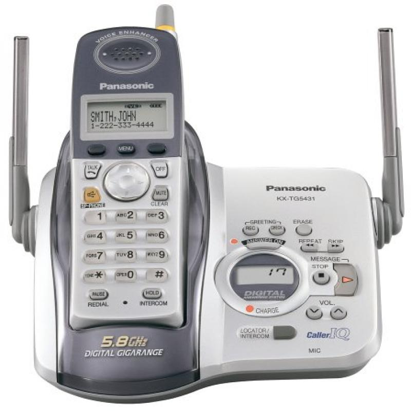 Panasonic KX-TG5431S 5.8 GHz DSS Cordless Phone with Answ...