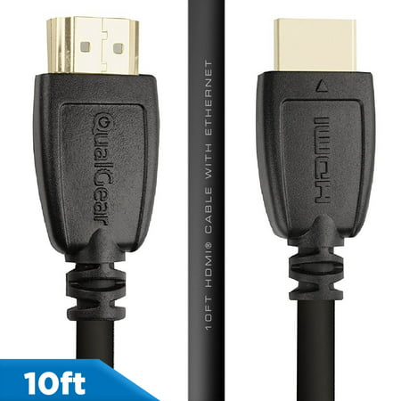 Bonus Hdmi Cable (QualGear 10' High-Speed HDMI 2.0 Cable with Ethernet )