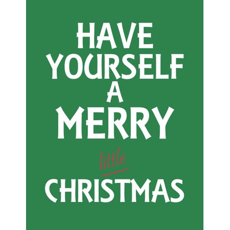 Have Yourself A Merry Little Christmas Print Green Background Wall ...