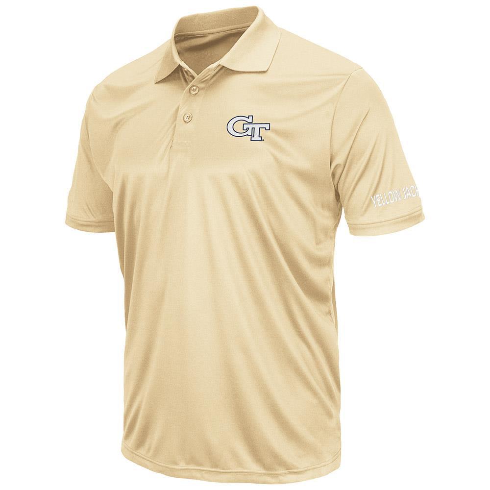 Mens Georgia Tech Yellow Jackets Short Sleeve Polo Shirt M by Colosseum