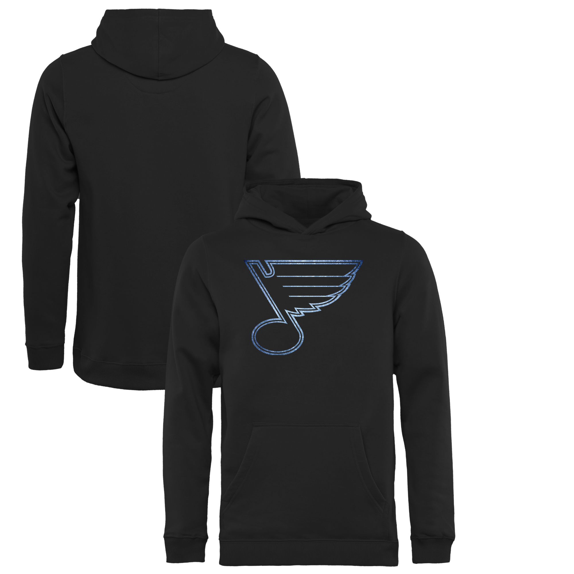 St. Louis Blues Youth Pond Hockey Pullover Hoodie Black by Football Fanatics/Ruppshirts