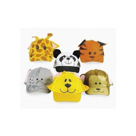 9f1d997715dcf Fun Express - Zoo Animal Baseball Hats - Apparel Accessories - Hats - Baseball  Caps - 12 Pieces - Walmart.com