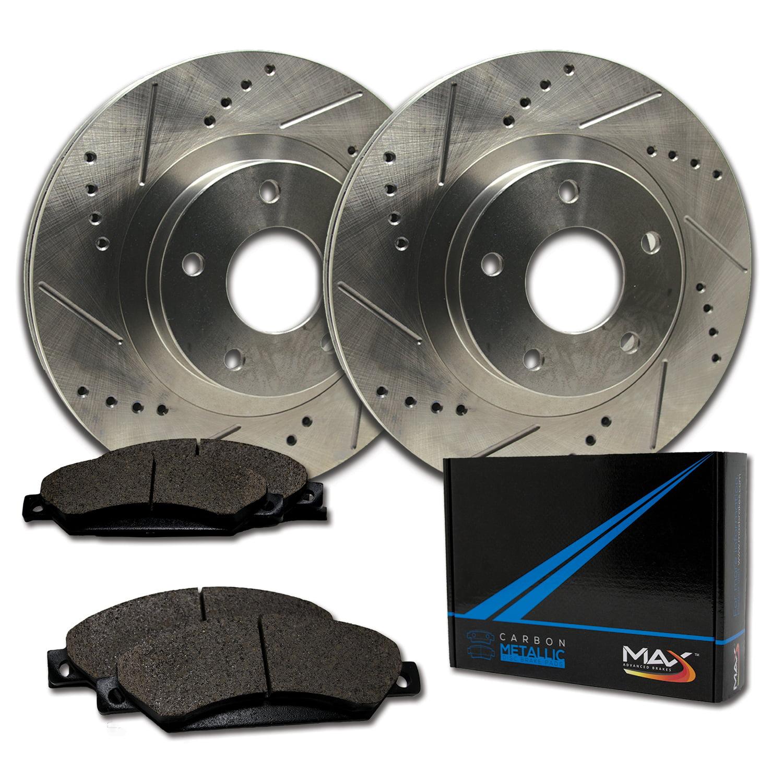 E-Coated Slotted Drilled Rotors + Metallic Pads TA062383 Max Brakes Front /& Rear Elite Brake Kit Fits: 2006 06 2007 07 2008 08 2009 09 2010 10 Ford Explorer