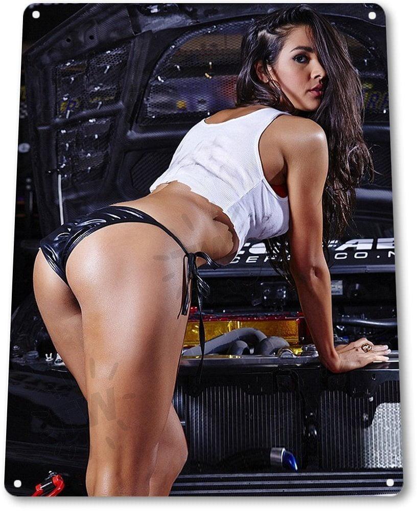 TIN SIGN Radiator Leak Auto Mechanic Pin-up Girl Metal Hot Garage Shop A934