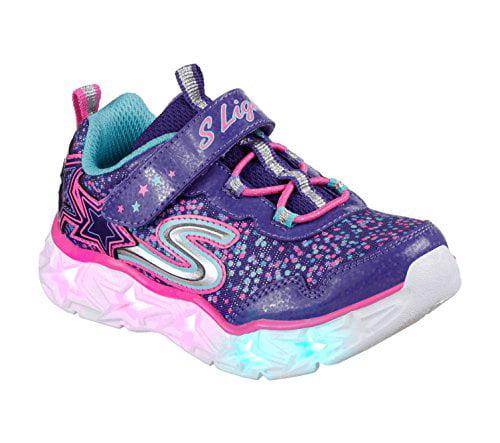 Skechers Kids' Galaxy Lights Sneaker,Purple/Multi,11.5 Medium US Little Kid
