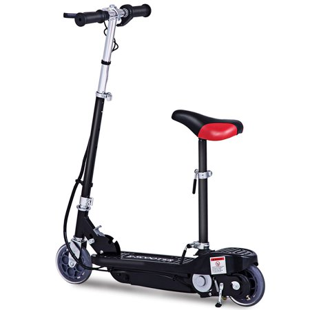 Gymax Folding Rechargeable Seated Electric Scooter Motorized Ride On Outdoor For