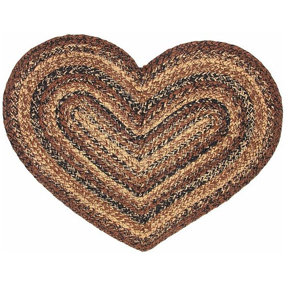 Cuccino Heart Shaped Braided Rug