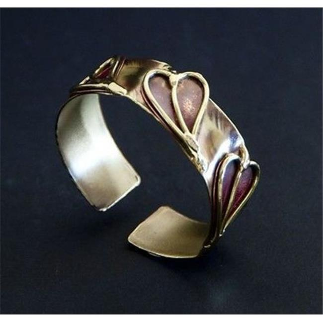 Brass Images Three Hearts Cuff