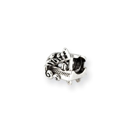 Sterling Silver Baby Grand Piano Bead Charm ()