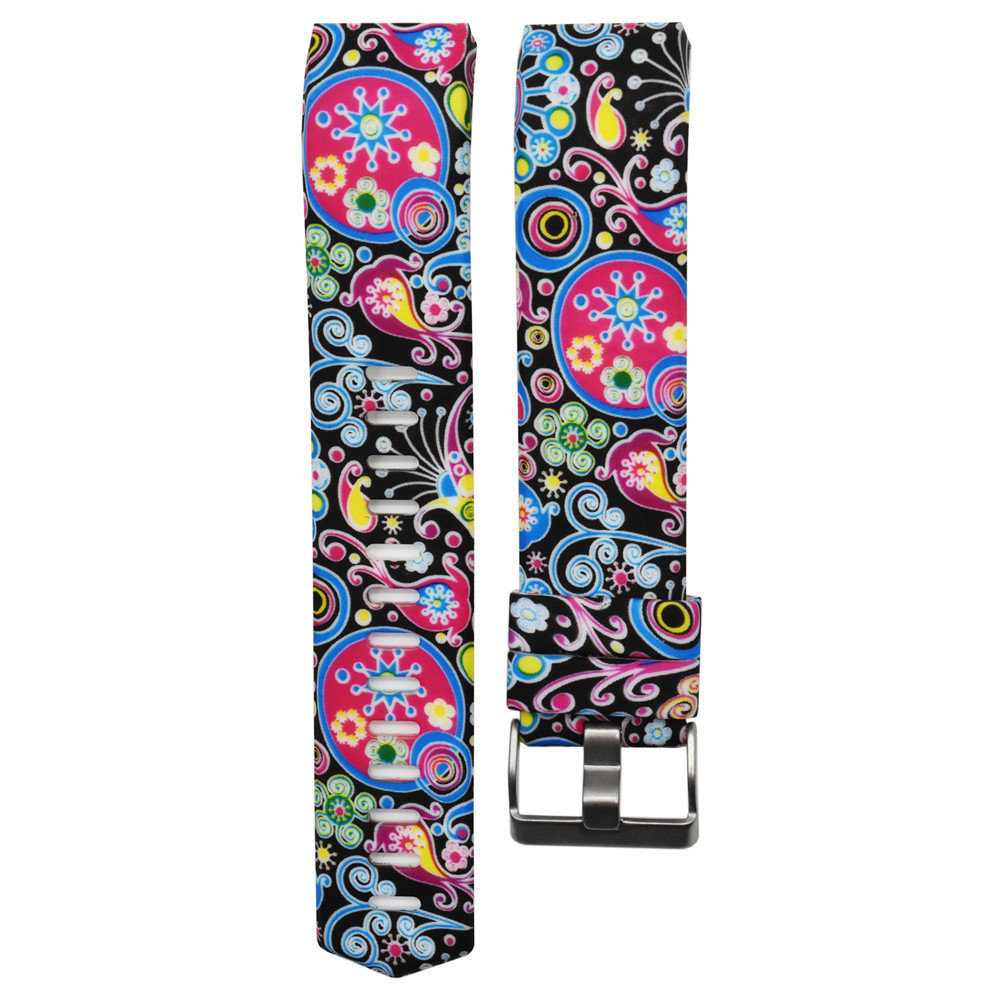 Colorful New Fashion Sports Silicone Bracelet Strap Band For Fitbit Charge 2