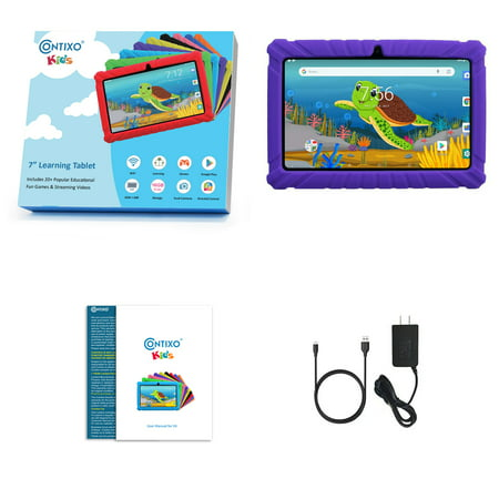 Contixo 7 Inch Kids Learning Tablet 16GB Android 20+ Preloaded Education Games & Apps, Kids Place Parental Controls WiFi Dual Camera for Children Toddlers with Kid-Proof Protective Case - V8-2 Green - image 6 of 9