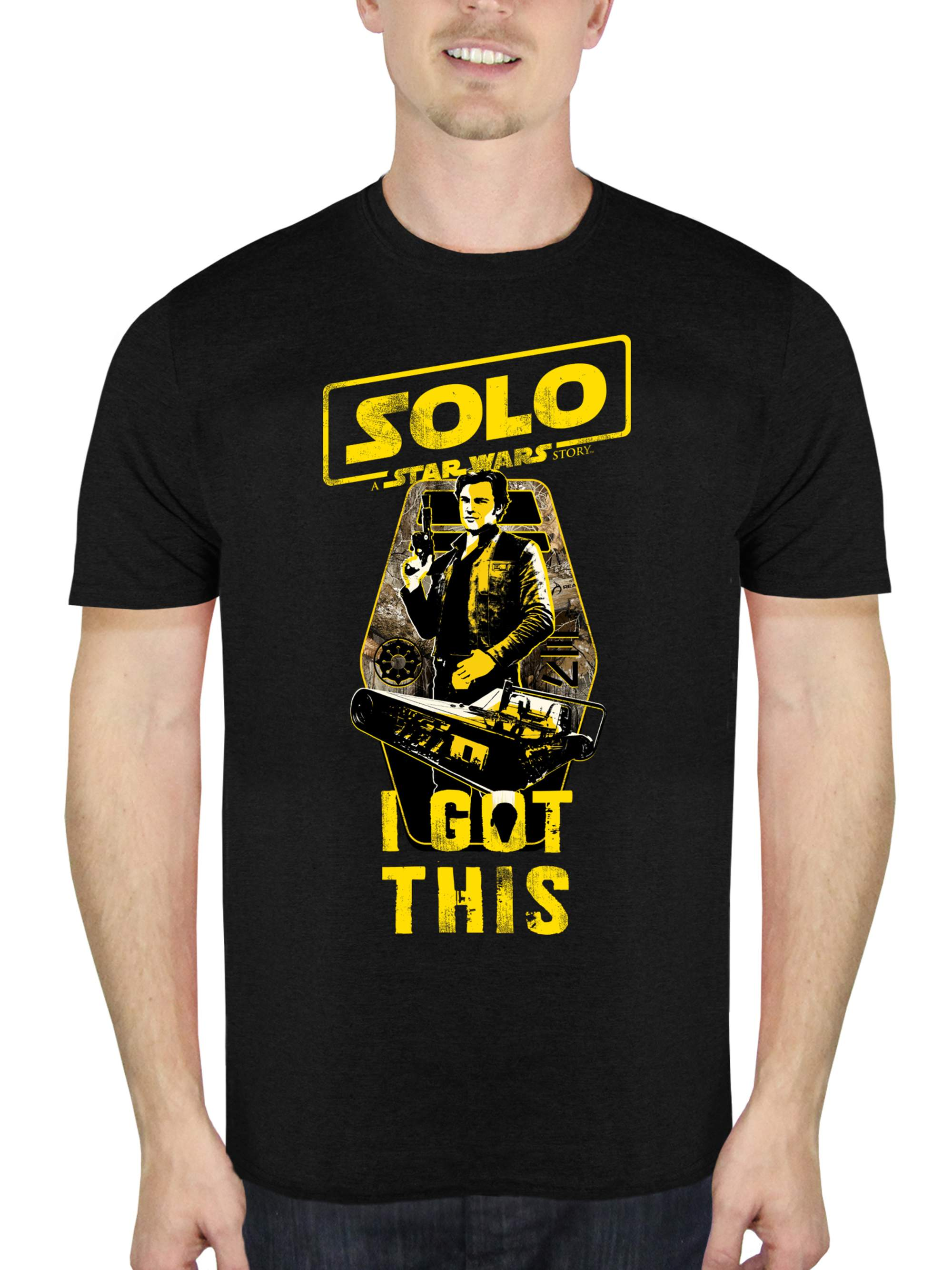 """Solo: A Star Wars Story Men's """"I Got This"""" Short Sleeve Graphic T-Shirt, up to Size 2XL"""