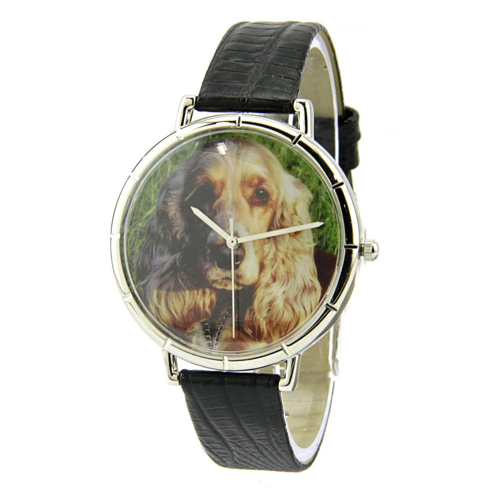 Whimsical Cocker Spaniel Stainless Steel  Women Watch