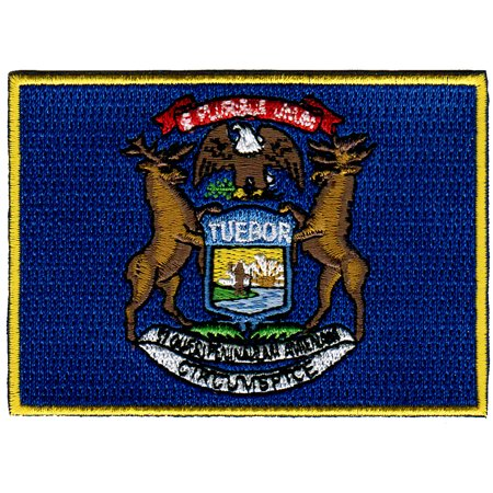 - Michigan Embroidered Iron-On Flag Patch