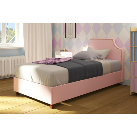 DHP Melita Upholstered Bed, Twin Size, Multiple Colors