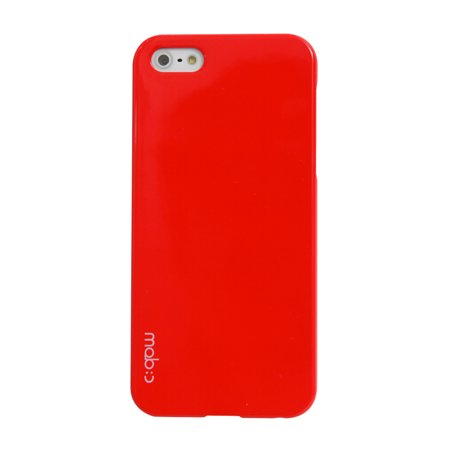 Made for Apple iPhone 5/5S Hard Case Cover;[Red] Perfect fit as Best Coolest Design Plastic Case - Includes Free Screen by