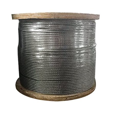 BestEquipT316 Stainless Steel Cable 1/8Inch 7x7 Steel Wire Rope Cable 500ft Cable Railing for Railing Decking DIY Balustrade