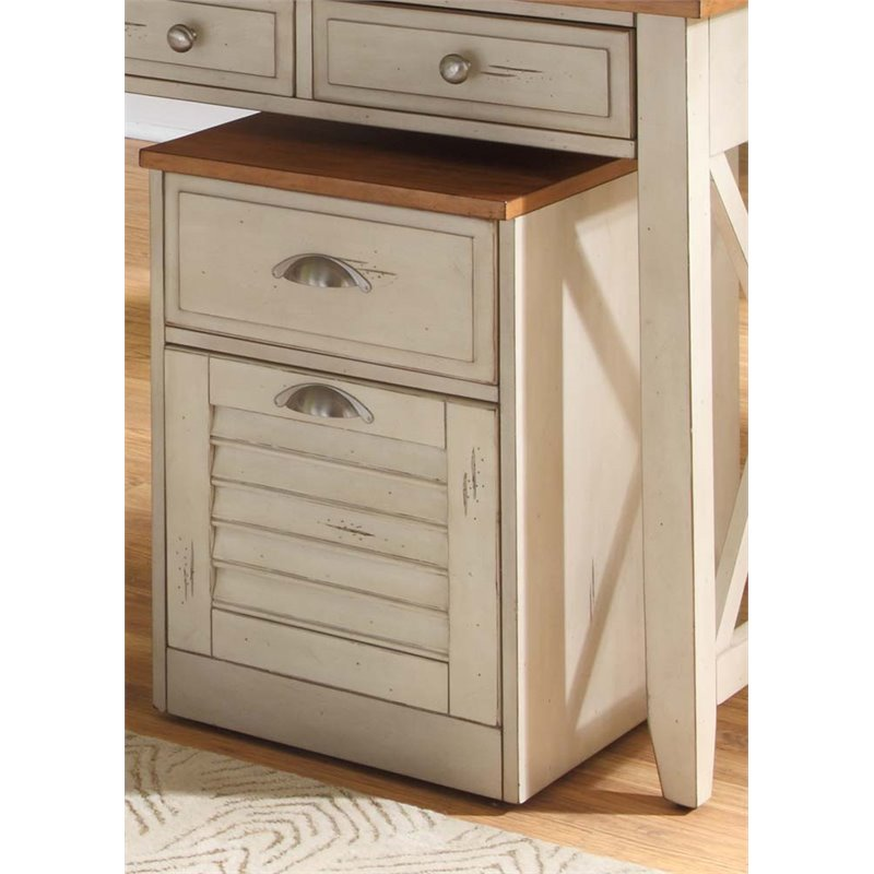 Bowery Hill 2 Drawer Mobile File Cabinet in Bisque
