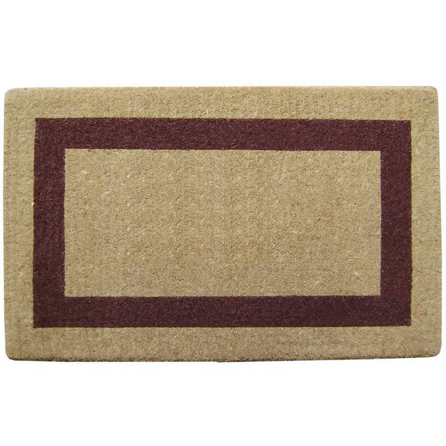 Heavy-Duty Coco Mat Brown Single Picture Frame, Plain
