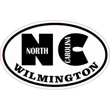 4in x 2.5in Oval NC Wilmington North Carolina Sticker - Halloween Stores In Wilmington Nc