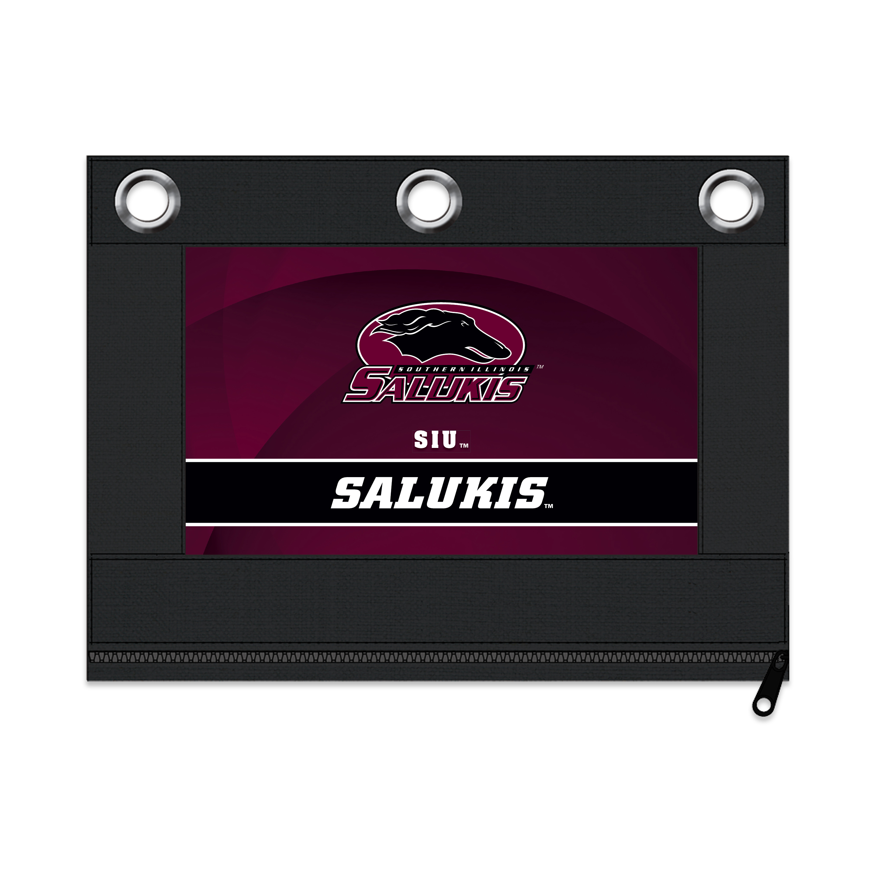 NCAA Southern Illinois Salukis Zippered Pencil Pouch with Grommets