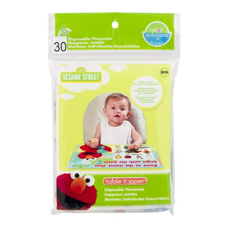 Neat Solutions Sesame Street Table Topper Disposable Stick-On Placemats, - Disposable Placemats