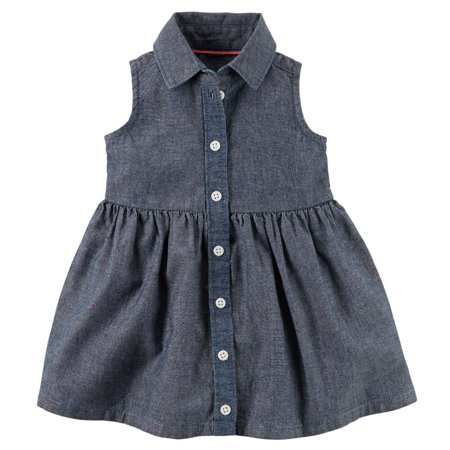 Carters Baby Boys Chambray Shirt Dress](Baby Boy Dress Up Clothes)