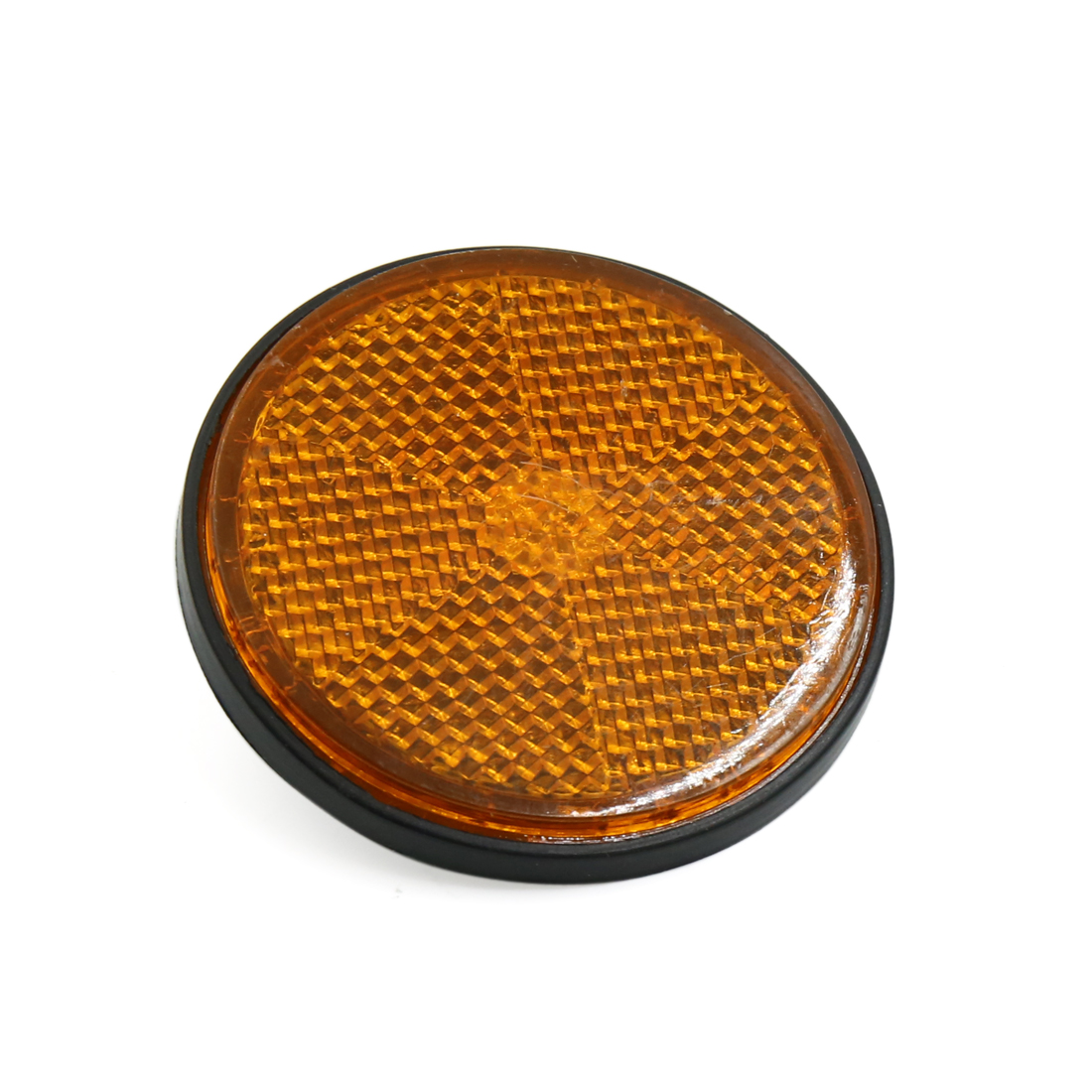 6mm Dia Orange Plastic Round Screw Mount Reflective Motorcycle Warning Reflector