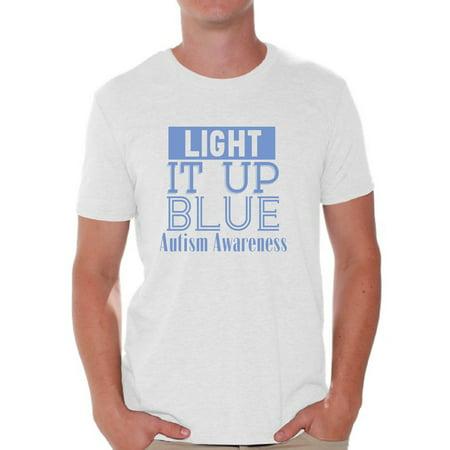 Awkward Styles Men's Light It Up Blue Support Graphic T-shirt Tops for Autism Awareness](Light Up Tee Shirt)