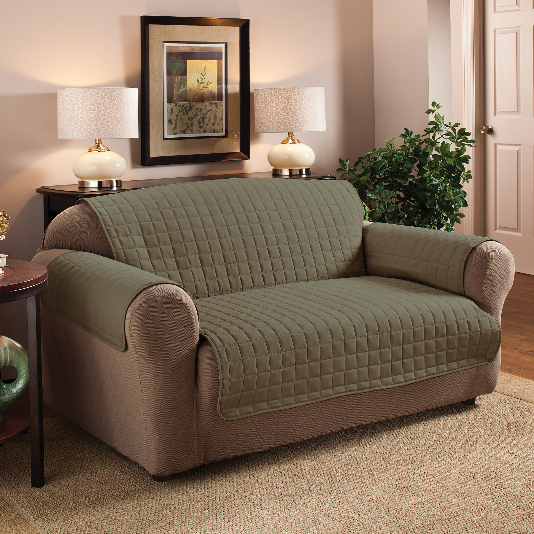 Innovative Textile Solutions Microfiber Furniture XL Sofa Furniture Protector Slipcover by Jeffrey Home