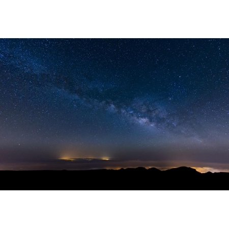 - The Milky Way Arcs Above the City Lights of Las Palmas De Gran Canaria, Canary Islands, Spain Print Wall Art By Garry Ridsdale