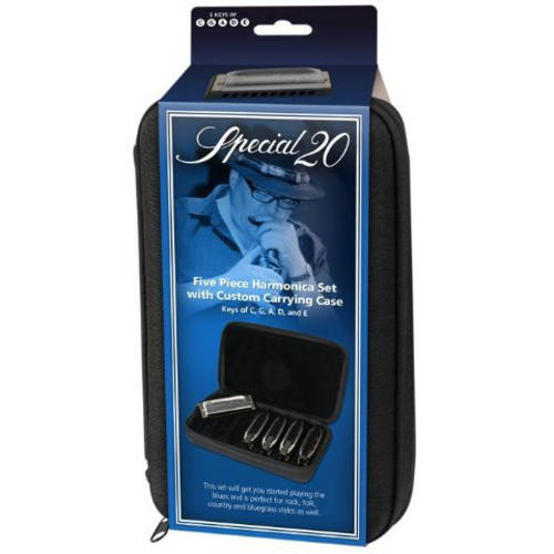 Hohner Marine Band Special 20 5-Piece Pro Pack, Keys of G, A, C, D and E