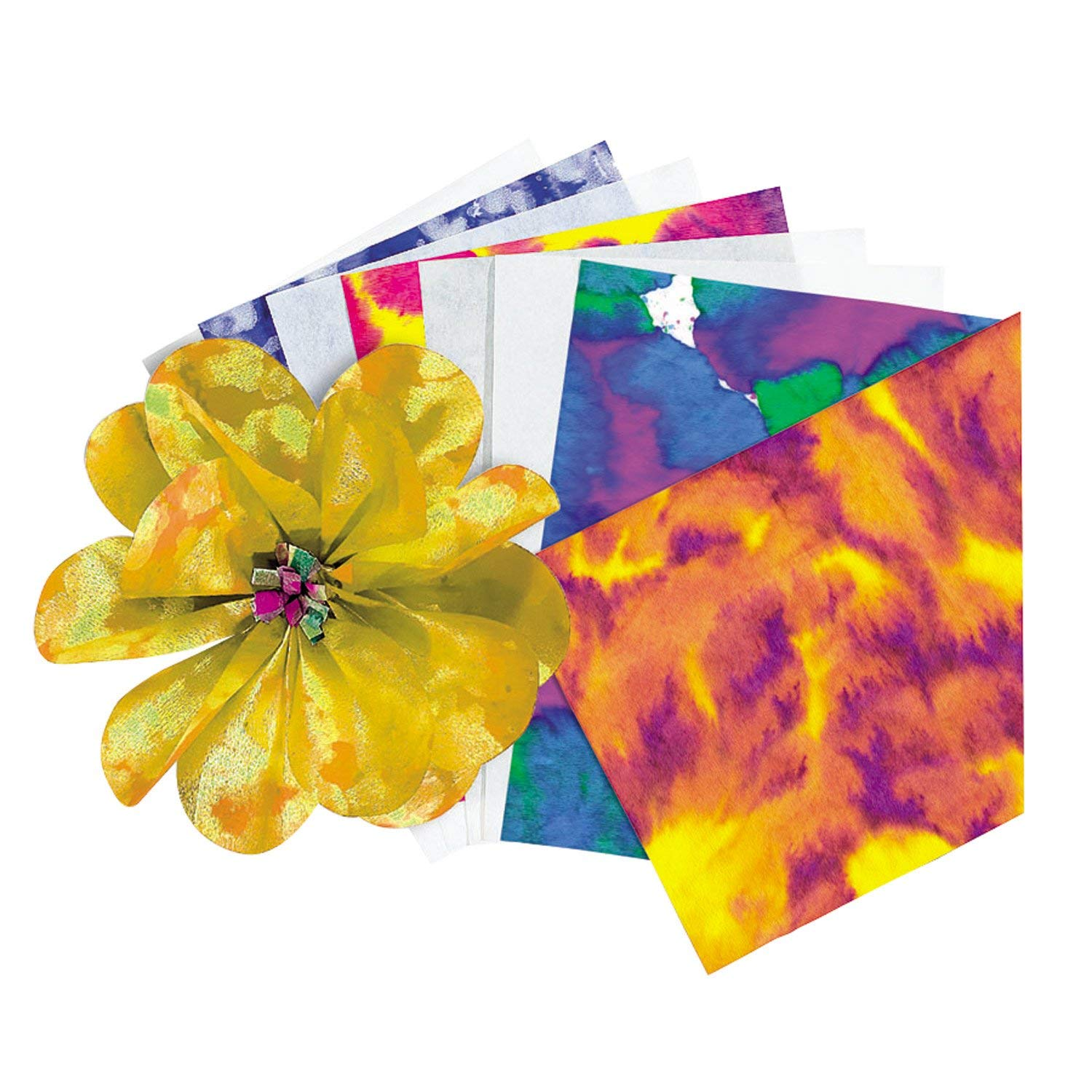 R15213 Color Diffusing Paper, Fabric-like paper with great texture By Roylco