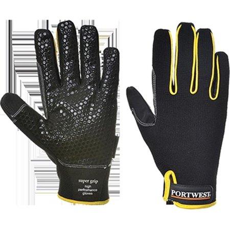 Portwest A730BKRL Super Grip Glove, Black - Large, Regular - image 1 of 1