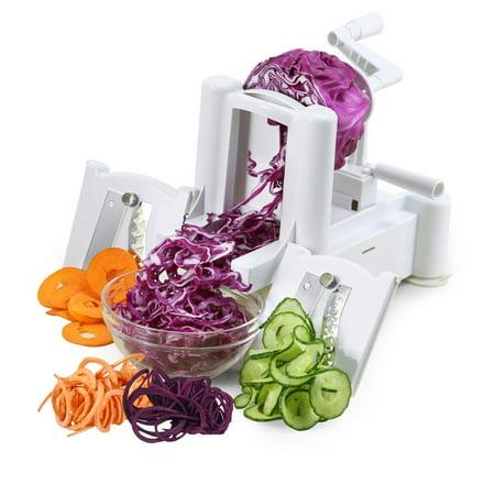 - 3 Blade Maverick Spiral Vegetable Spaghetti, Pasta, Potato Pasta, Chips and Slices, French Fries Rings, Potato Twists Spiralizer