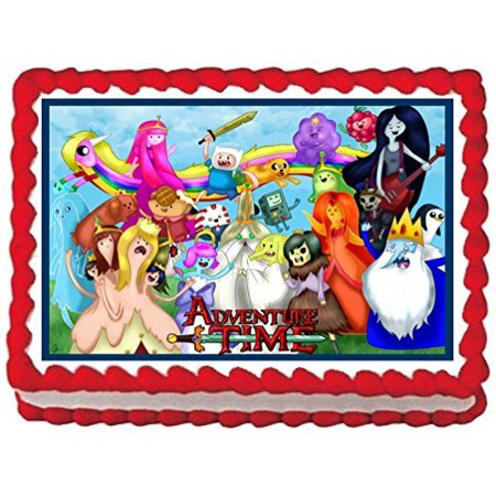 Adventure Time Cake Topper Edible Frosting Image 1 4 Sheet