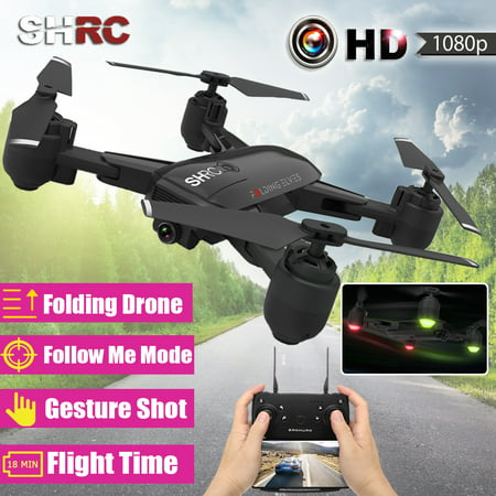 Grtsunsea 1080P Wifi FPV Optical Flow Gesture Shot Follow Me Fly 15 mins Altitude Hold RC Selfie Drone