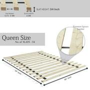 Spring Coil 1.5-inch Standard Mattress Support Wooden Bunkie Board / Slats
