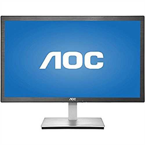 23.6 AOC I2476VWM HDMI/VGA Full HD 1080p Widescreen Slim LED IPS LCD Monitor (Black)