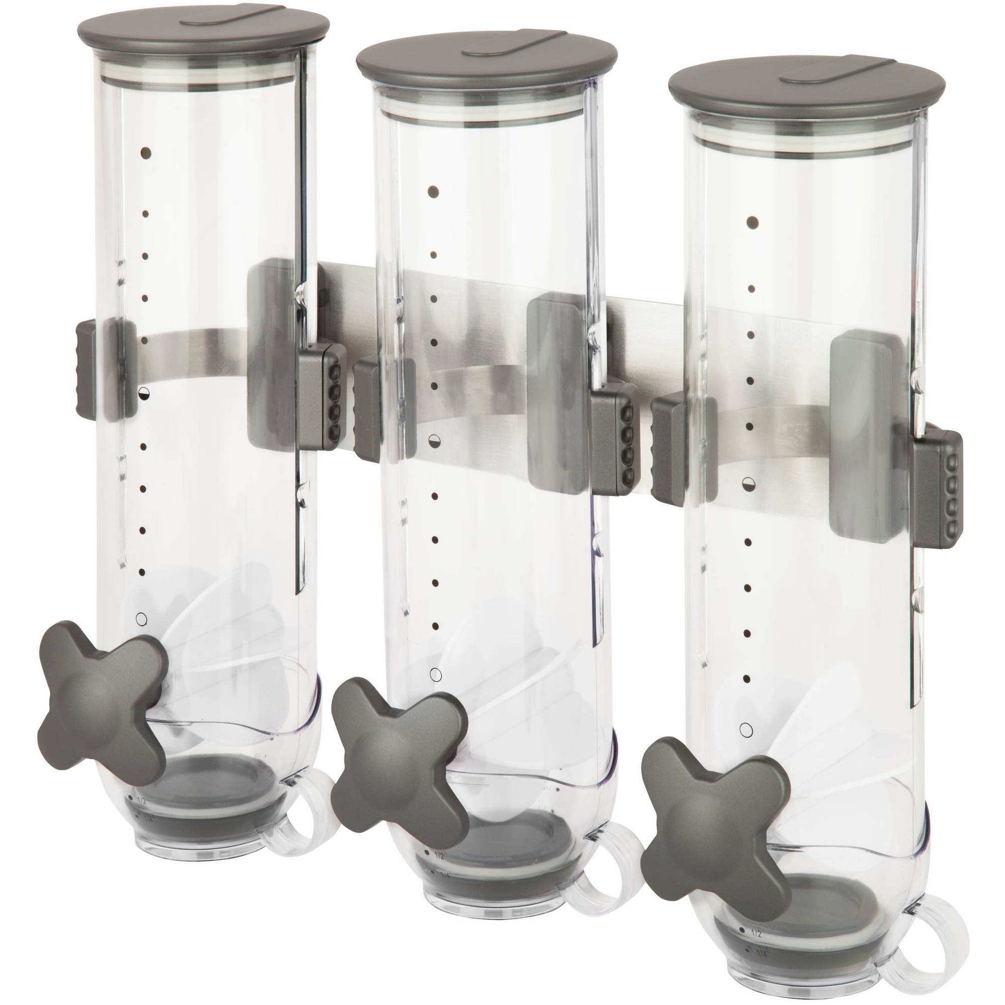 Zevro SmartSpace Edition Triple 13 oz Wall Mount Dispenser, Clear/Charcoal