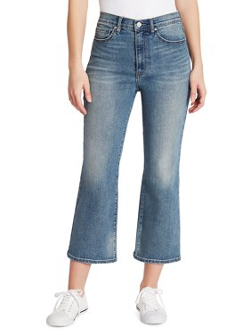 High-Rise Flare Cropped Jeans