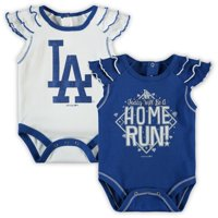 Los Angeles Dodgers Newborn & Infant Shining All-Star 2-Pack Bodysuit Set - White/Royal