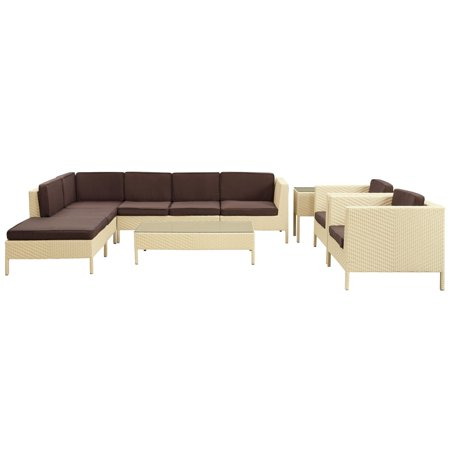 Modway Wicker Sectional Conversation Seats