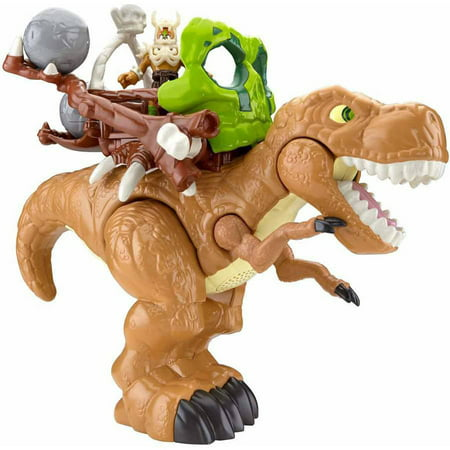Imaginext T-Rex Dinosaur with Warrior and Accessories