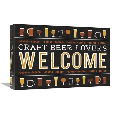 Global Gallery's 'Craft Beer Welcome' By Michael Mullan Stretched Canvas Wall Art (Michales Crafts)