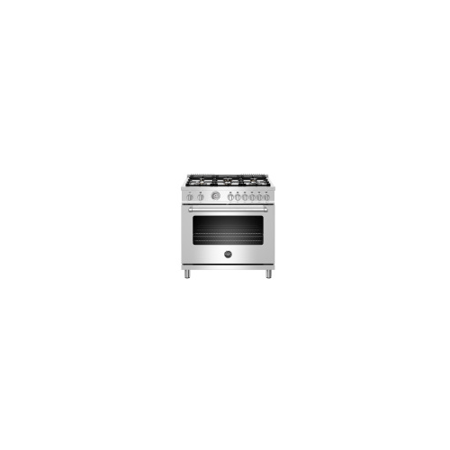 Bertazzoni 36 Master Series range - Gas oven - 6 brass burners - LP version - MAST366GASXTLP