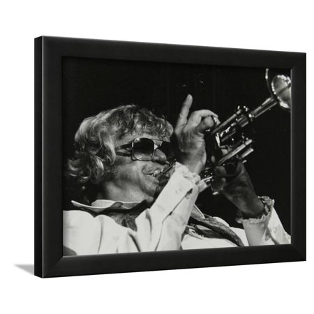 Maynard Ferguson Playing the Trumpet Framed Print Wall Art By Denis