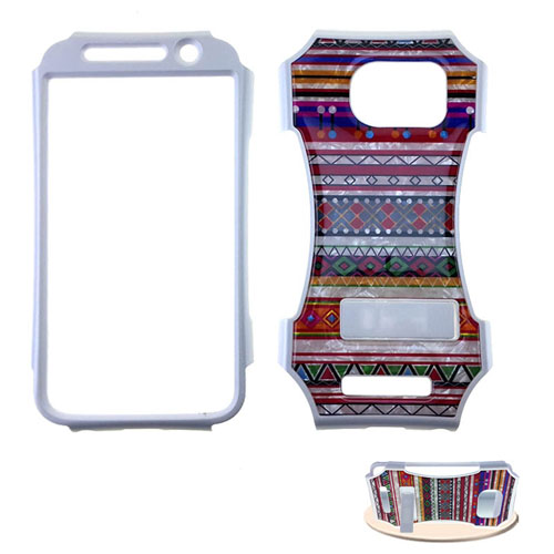 Kicker Snap-On Protector Case for Samsung Galaxy S6 (Crystal Design Tribal Pattern)