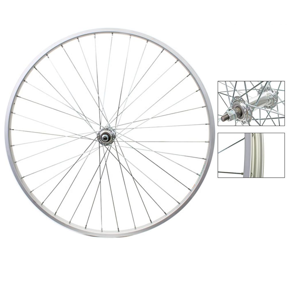 Weinmann RM19 Front Road Wheel 27in Silver 36-Hole Alloy Bolt-On Axle Hub