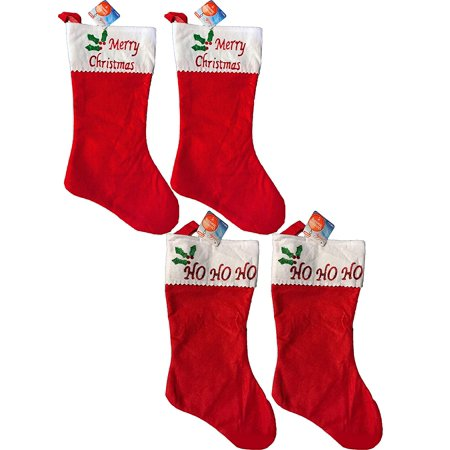 Christmas Embroidered Red Stocking -